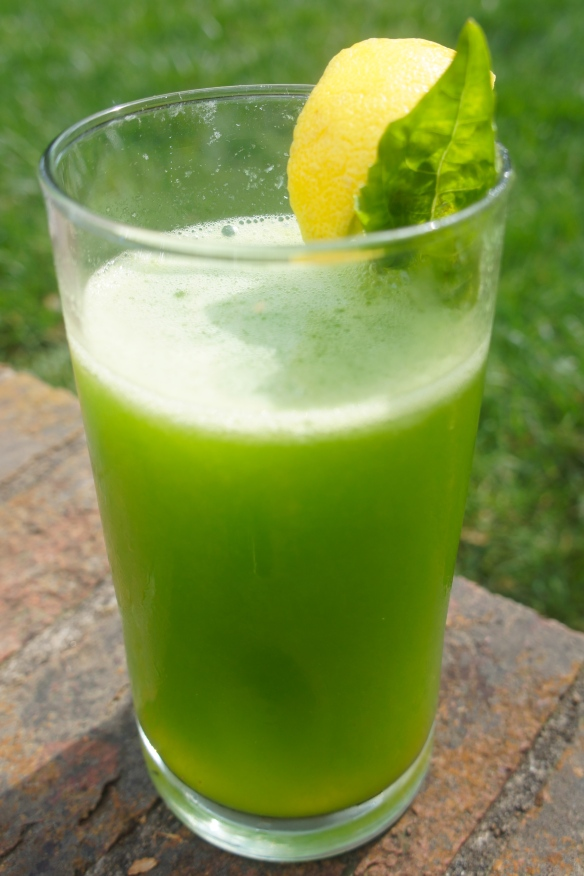 Frosty Basil Lemonade